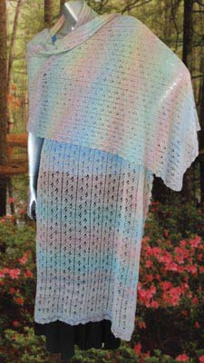 Flirty Flower Shawl – Simple Free Crochet Pattern